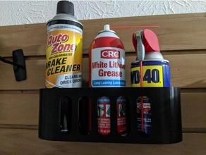 slatwall spray holder  holder holder slat slatwall slat board slat wall spray spray holder spray paint wall