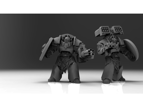 space puppies - long claw battle leaders 40k assault bolter cannon cyclone guard launcher missile space storm terminator warhammer wolf