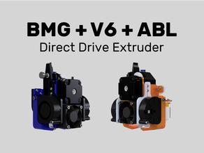 bmg + v6 + abl direkt sürücü ekstrüder 4020 hayran 5015 hayran kanal Alfawise metal Oto yatak tesviye Bltouch bmg Bondtech bmg kompakt Creality ender 3