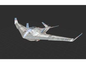 stingraydeluxe aereo ricaduta ricaduta 4 combattente Jet Jet aereo retrò futuristico scifi