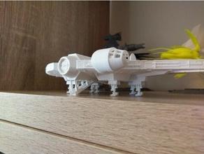 millennium falcon landing gear boarding ramp falcon millenium falcon millennium millennium falcon star star wars wars