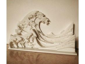 grande onda kanagawa 3d arte arte telaio grande inchiostro Giappone giapponese immagine Stampa scultura onda