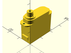 Saturno s54 micro servo corpo modello fpv Taglio laser micro servo openscad servo submicro servo