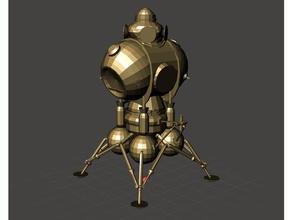 ricaduta 3 virgo2 lander ricaduta ricaduta 3 lander lunare lander spazio navicella spaziale