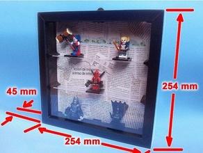 Lego marco ikea credenza balda cuadro decoracion Schermo estante figura figura telaio struttura ikea jpo41 Lego Lego minifigure marco minifig minifigure mini figura montaggio immagine immagine