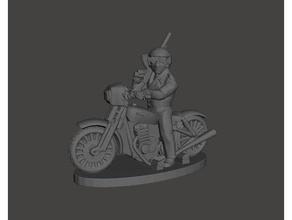 bad cop bronze 20mm biker - dark future gasland miniature 15mm 20mm 25mm 28mm bike biker bronze dark darkfuture fallout fantasy figure figures future fww gaslands mad max mini miniature miniatures motorbike postapoc rider wargame wargames wargaming wasteland wasteland warfare