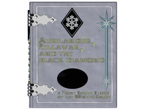 cubierta caja libro auriland rellavar negro diamante escarcha duende historia invierno Corte mazmorras dragones