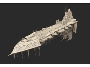 Schiff 02 Kriegshammer 40k 40k Todesschwinge Hulk Schiff Platz Kriegshammer