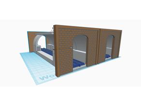 n scale tubo tunnel j3ffr3y jeff modello Ferrovia modello treni n gauge n scale valutare scala treni tunnel