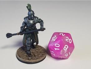 mace knight variants 28mm dnd dungeons dragons fantasy fighter human knight miniature miniatures paladin warrior