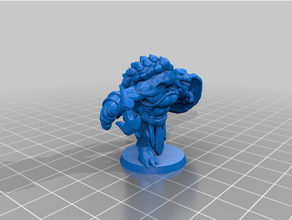 tortle warrior 3dprintable barbarian boardgame dungeons dragons fighter miniature warrior