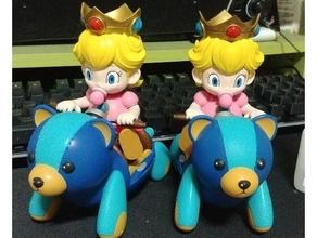 mario kart - baby princess peach baby peach cute girl mario mario kart nintendo peach princess peach