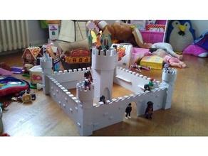 Achevée playmobil Château bâtiment Château château château fort médiéval playmobil playmobils playmobil échelle jouet