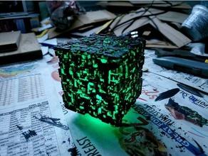 borg cube - green led tea light borg borg cube cube star trek star trek tng