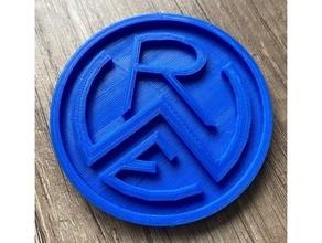 rot wei essen emblema emblema Fútbol glasuntersetzer rot weiss essen untersetzer
