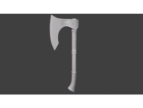 asesino credo Valhalla hacha asesinos credo hacha cosplay oddworks apuntalar Valhalla vikingo