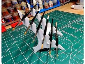 peindre brosse supporter brosse personnage citadelle titulaire soutien peindre pinceau pinceau titulaire soutien grille supporter
