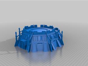 40k imperial punto fuerte búnker 40k adeptus titanicus astra militarum épico 40k imperio sci fi espacio marina martillo guerra
