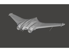 wolfenstein nurfl gler plane airplane dieselpunk fighter jet horten jet jet engine nurfluegel plane scifi wing wolfenstein