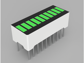 components model 10 segment led light bar display f2510yg