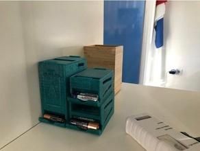 aa battery dispenser mini - stackable aa batteries aa battery aa battery box aa battery dispenser aa battery holder battery battery case battery holder openscad