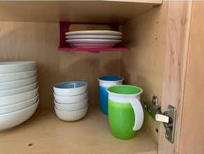under-shelf dish caddy 190mm 190mm 78mm bathroom cabinet caddy dishes ikea kids kitchen montessori organizer overshelf plate shelf toddler undershelf shelf