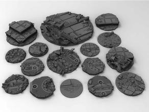 guerra juego azar base toppers 32mm 40mm 50mm 90mm miniatura bases espacio marina juego guerra terreno martillo guerra 40k