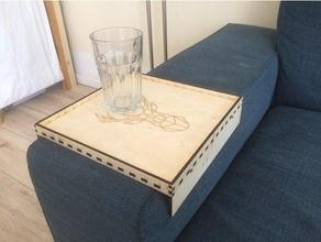 vassoio divano bracciolo tablet divano Taglio laser compensato