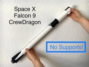 1 110 1 96 spazio falco 9 equipaggio Drago supporti pittura 1110 196 block5 crewdragon Drago falco falcon9 merlino modello modello razzo razzo scala