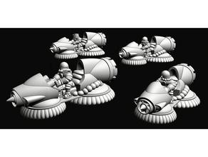 guerre sprecate lunare coalizione mediatore jet bikes 10mm 10mm scala epico epic40k epico scala moto d'acqua scifi gioco guerra wargaming wargaming scifi wasteman guerre sprecate
