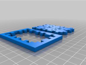 cube puzzle x6 créer 6 petit cubes combiner 4 pièces ensemble 1 gros cube puzzle