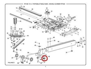 ryobi rts30 table - block slider - 089037009045