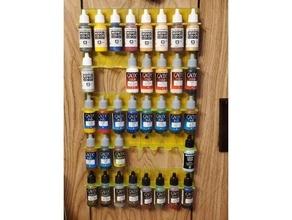 pared estante modelo pintar cuentagotas botellas miniatura modelo pintar estante vallejo