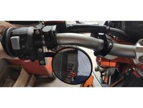 manubrio posteriore specchio morsetto manubrio Harley davidson honda kawasaki ktm specchio motociclo posteriore specchio suzuki trionfo yamaha