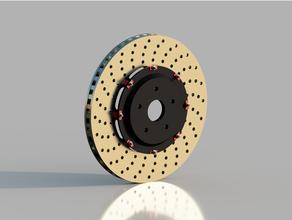 brembo freno disco v2 3dprintable 3d stampabile 3d stampante freno brembo macchina design disco ingegneria fusione 360 modello corsa gli sport