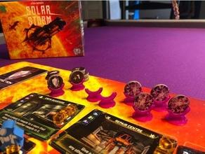 Solar Sturm Tafel Spiel Leistung Zeichen Halter Unterstützung
