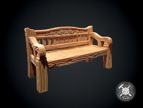 panchina 28mm 32mm panchina sedia prigione Dungeons and Dragons dungeon draghi fantasia mobilia miniatura parco esploratore banco rpg posto sedere tavolo tavolo rpg terreno legno falegnameria