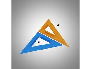 Triangle règle ensemble règle Triangle Triangle règle