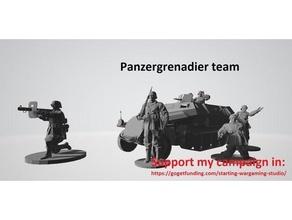 ww2 Deutsche pz Grenadier Mannschaft Tafel Wargaming