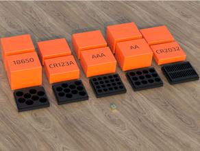 batterie boîte ensemble aaa aa cr123a 18650 cr2032 18650 batterie aaa aaa batterie aa batterie batterie boîte Cas gaine récipient cr123a cr123a batterie cr2032 cr2032 batterie