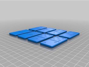 Domino Tafel Brettspiel Konstruktion Spielzeuge Domino Dominosteine Stück Puzzle Spielzeug Spielzeuge