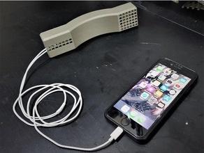 retro Telefon Apfel Apfel Ohrstöpsel Halter Unterstützung komfortabel Kopfhörer Kopfhörer Halter Unterstützung iPhone retro Blitz