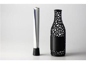 Messaggio bottiglia bottiglia contenitore geocaching supporti carta voronoi