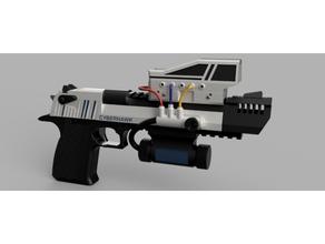 cyber falco cyberpunk deserto aquila pistola