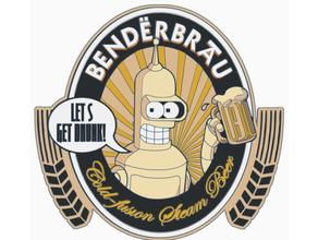 benderbrau bender beer logo hd futurama futurama bender futurama robot