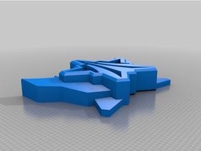 cohete liga grandioso plano llavero 3d impresora esports juego azar llavero logo