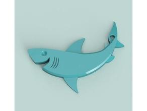 smiling shark keychain amulet fish keychain life  marine shark smiling