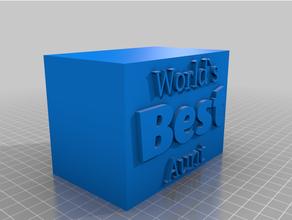 mundos tía trofeo base personalizado