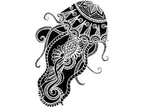 Medusa plantilla lindo mar criatura Medusa marina mar criatura mar criaturas plantilla