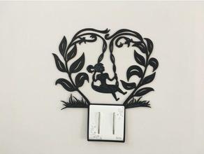 wall art decoration swing girl decor decoration vector wall mount